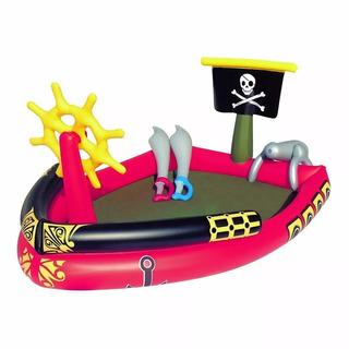 Pileta Inflable Bebe Barco Pirata Con Espadas Bestway