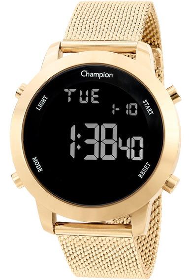 Relógio Champion Feminino Digital Dourado Ch40062u Original