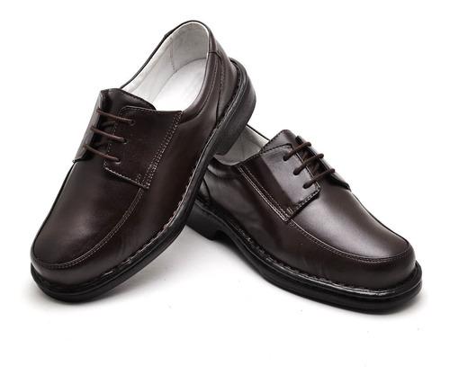 b9976b3d1 Sapato Masculino De Cadarço Para Trabalho Confortável Couro - R$ 158,00 em Mercado  Livre