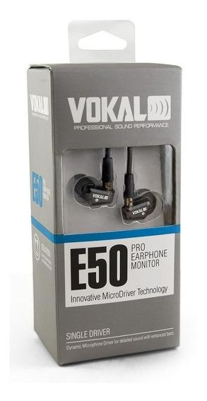 Fone De Ouvido In Ear Profissional E50 Pro Isolamento 37db