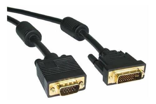 Imagen 1 de 2 de Cable Adaptador Dvi-i 24+5 A Vga Audio Y Video Doble Filtro