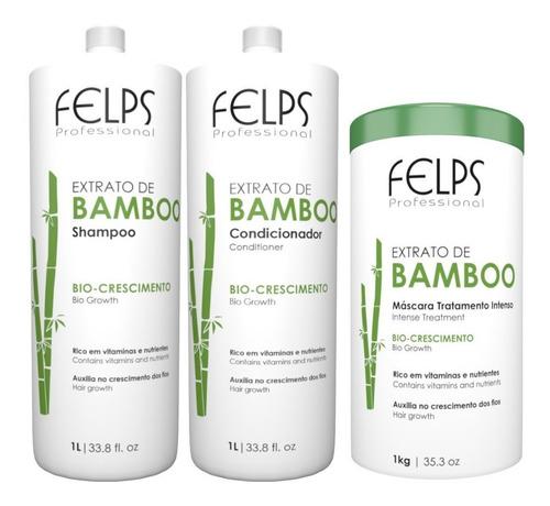Felps Kit Bamboo Salão 2x1l + Máscara 1kg + Brinde