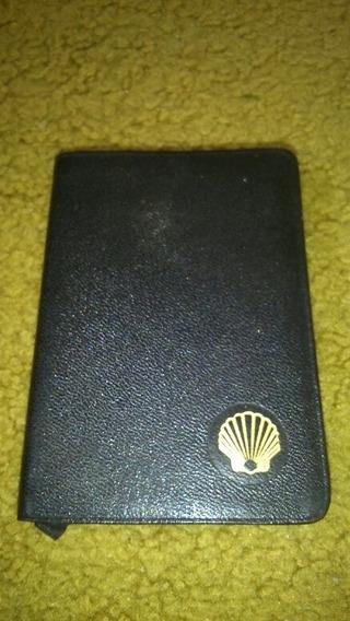 Cardeneta De Bolso Antiga Posto Shell