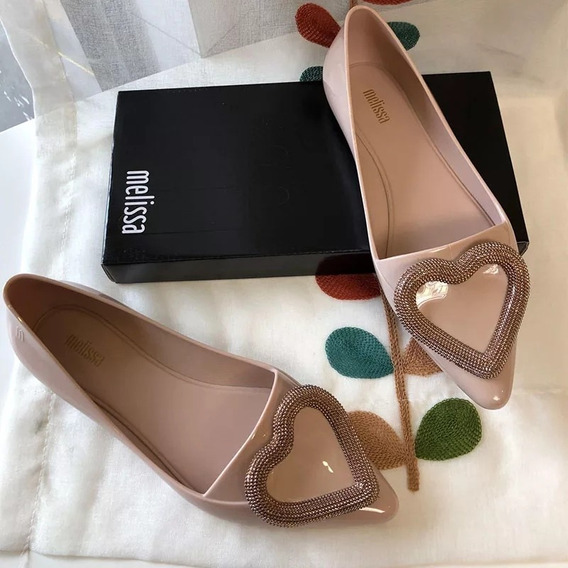 Zapatos Flats Mujer Melissa Corazón 3 Colores 22.5 A 25 Cm