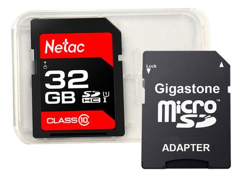 Imagem 1 de 5 de Cartão Memória Sdhc 32gb 100mbs Netac Adapt E Case