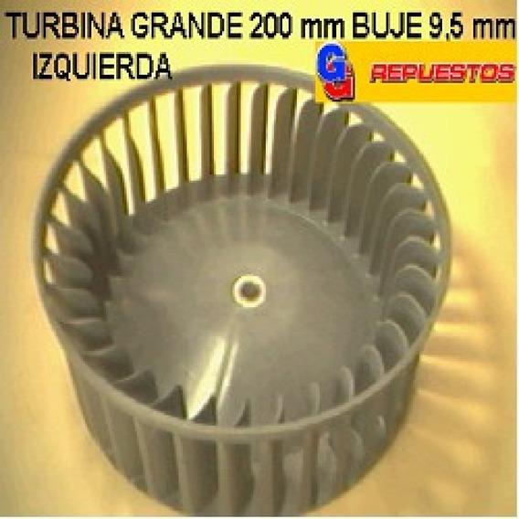 Turbina Purificador 200mm Grande Buje 9,5mm Izquierdo Alto 6