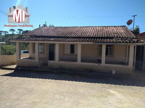 Ótima Chácara Com 3 Dormitórios, No Asfalto, À Venda, 550 M² Por R$ 250.000 - Zona Rural - Pinhalzinho/sp - Ch0746