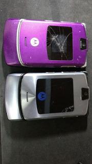 Lote 2 Celulares Motorola V3, Ler Anuncio 1/18