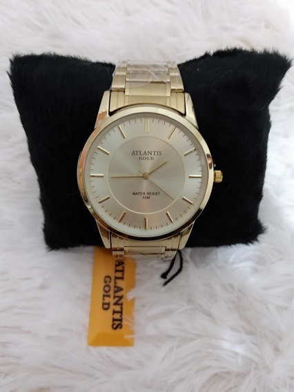 Relógio Feminino Dourado Original Atlantis Modelo 2019