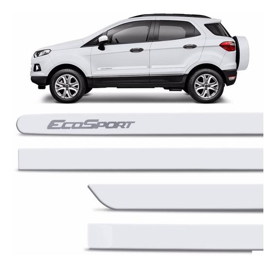 Friso Lateral Nova Ford Ecosport 2013 A 2019 Branco Ártico