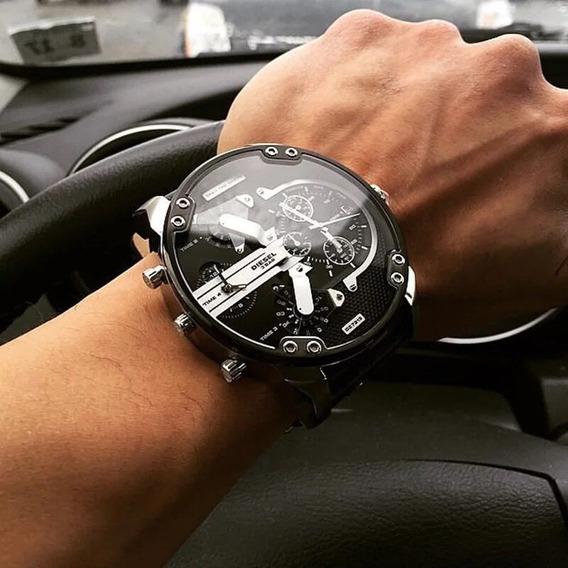 Relógio Masculino Duas Máquinas Frete Grátis Bigdial Dz73