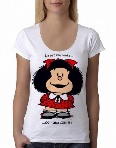Remera Mafalda Mujer Argentina Turistico 4 Purple Chick