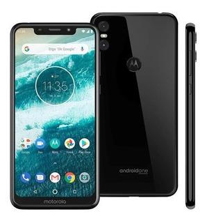 Motorola One Preto 64gb / Fone Original + Pelicula
