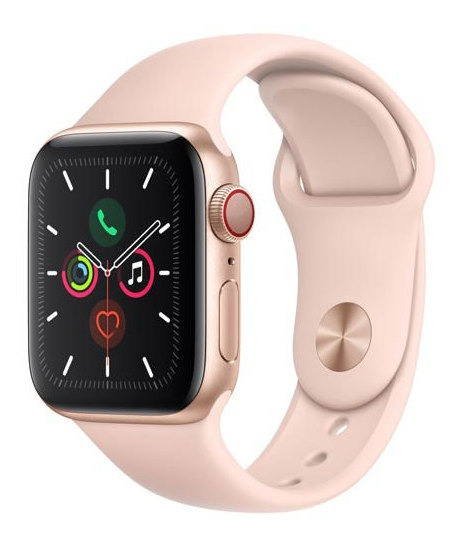 Apple Watch Series 5 Dourado 40 Mm, 4g, Bluetooth E 32 Gb