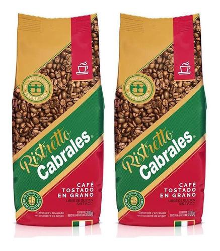Imagen 1 de 7 de Cafe Grano Cabrales Ristretto 1kg Expresso Tostado