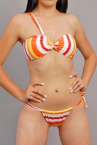 Sexy Traje De Baño Brasileño Bikini Tanga 2pz Modelo B615-4