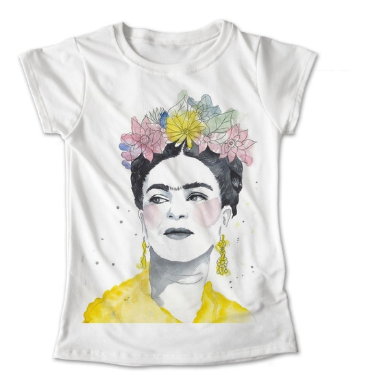 Blusa Frida Kahlo Mexico Colores Playera Estampado #319
