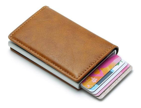 Carteira Em Couro Pu Com Divisória Para Cartão De Crédito