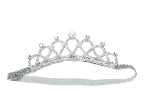 Coroa Tiara Elástica Princesa Infantil Enfeite De Cabeça