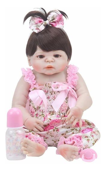 Cic Bebe Reborn 55cm Menina 100%silicone Boneca Reborn Doll