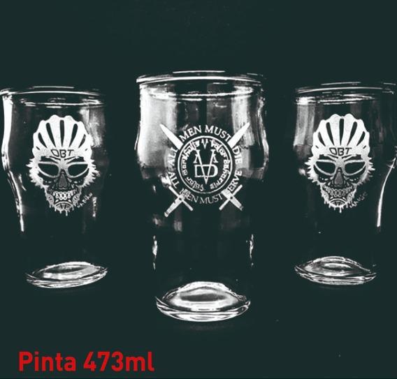 Vasos Vidrio Pinta Stout 473ml Cervecero Personalizado Grabado X1u Nadir Durax Eventos Regalos Vaso Cerveza Cervecería