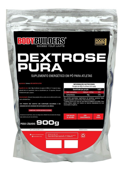 Dextrose Pura 900g Natural - Bodybuilders