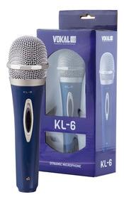 Microfone Vokal Com Fio Kl-6 / Com Cabo De Brinde