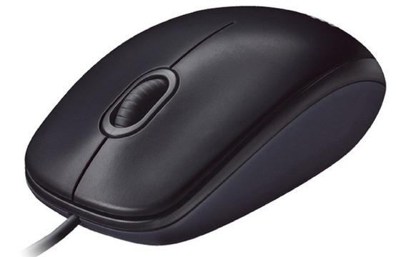 Mouse Usb Logitech M90 Opitico Preto Com Fio Resistente Barato - Não É Microsoft Hp Dell M100 M110