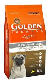 Ração Golden Cães Adultos Light Mini Bits Frango/arroz 10kg