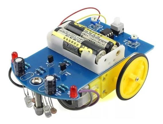 Kit Diy Montar Montagem Monte Você Mesmo Line Follower Robô Seguidor Trilha Linha Ñ Arduino