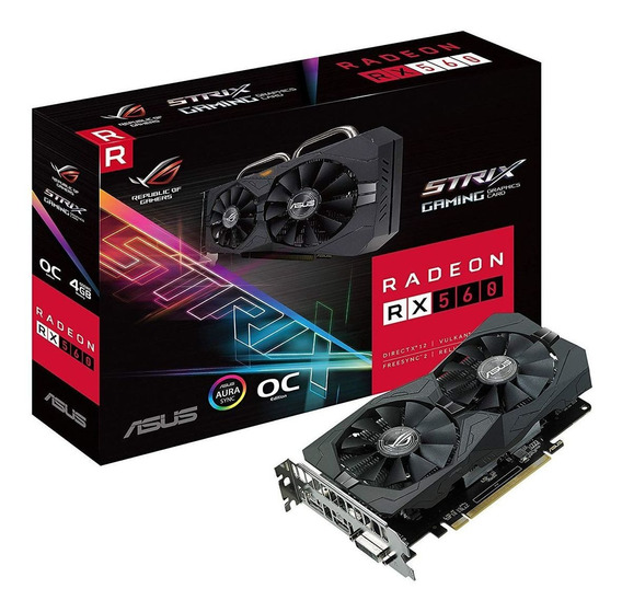 Asus Placa Grafica Rx 560 Strix Rog 4g Ddr5 Gaming O4g 90yv0