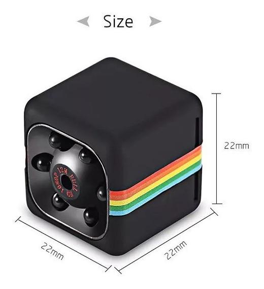 Sq11 Mini Camera Espiã Visão Noturna Preta