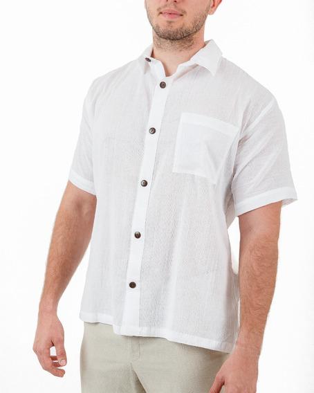 Camisa Lisa De Manta Con Tramado