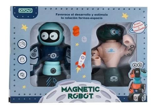 Robot Magnetic X2 Imantados Armar Desarmar Didactico Ditoys