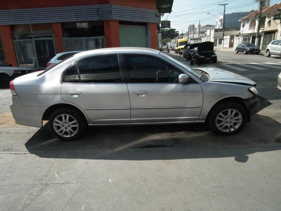 Sucata Honda Civic 1.7 2004 Portas Interior Peças Câmbio