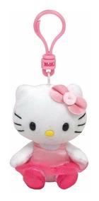 Chaveiro Hello Kitty Bailarina Pelúcia Ty Clip Dtc