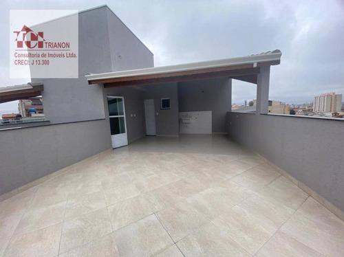 Imagem 1 de 15 de Cobertura Com 95 M² Total - 2 Dormitórios, 2 Vagas - À Venda Por R$ 350.000 - Vila Progresso - Santo André/sp - Co0942