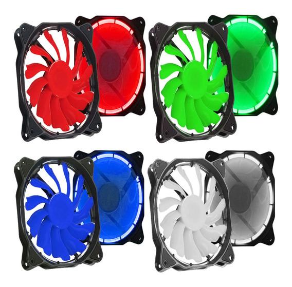 Cooler Fan Led 12cm 120mm Branco Verde Azul Vermelho Pc Gamer