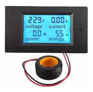 Wattímetro Amperímetro Voltímetro Digital 80/260v Ac 100a+tc