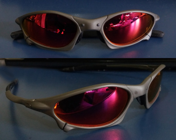 Oculos Penny Xmetal Lente Vermelha Dark Ruby Polarizada
