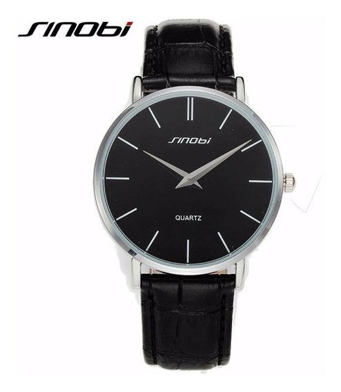 Relógio Casual Masculino Sinobi Modelo Super Slim