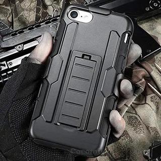Capa Case iPhone 6 6s 7 8 Anti Impacto Shock Clipe De Cinto