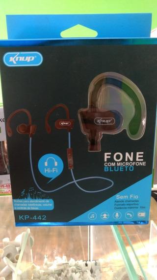 Fone De Ouvido Bluetooth 4.2 Esportivo Hi-fi Knup