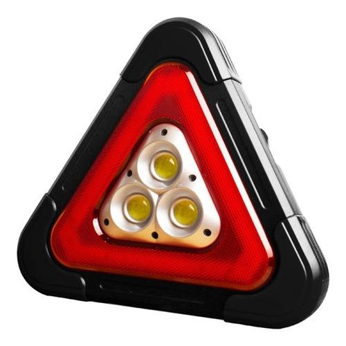 Triangulo Con Luz De Emergencia Carro Recargable Solar Led