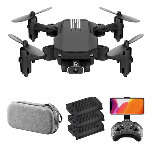 Imagen 1 de 10 de Dron Cuadricóptero A Control Remoto Ls-min Con Cámara 1080p