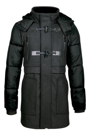Dlj Abrigos Corte Regular Gorro Desmontable Moda 7550122