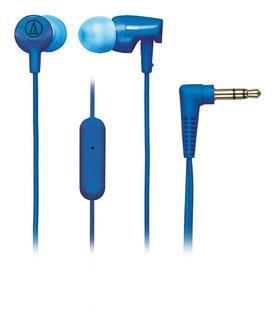 Auricular Azul In Ear - Mic - Audio Technica - Ath-cor150 Is