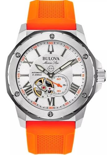 Relógio Bulova Masculino Automático Marine Star 98a226