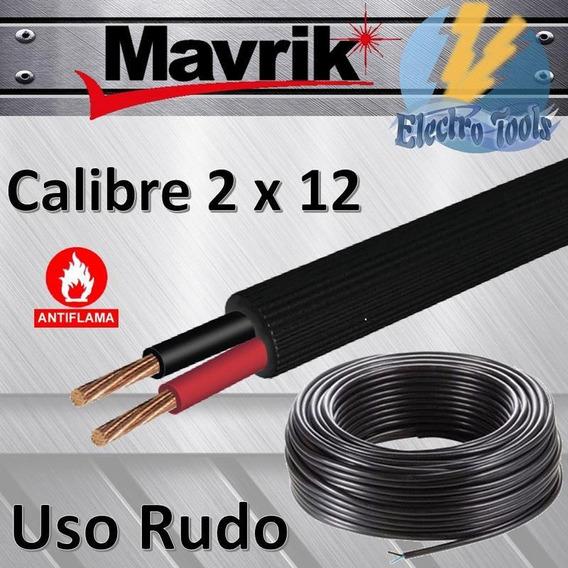 Cable Electrico Uso Rudo Calibre 2x12-100 Mts, 600 V, Mavrik
