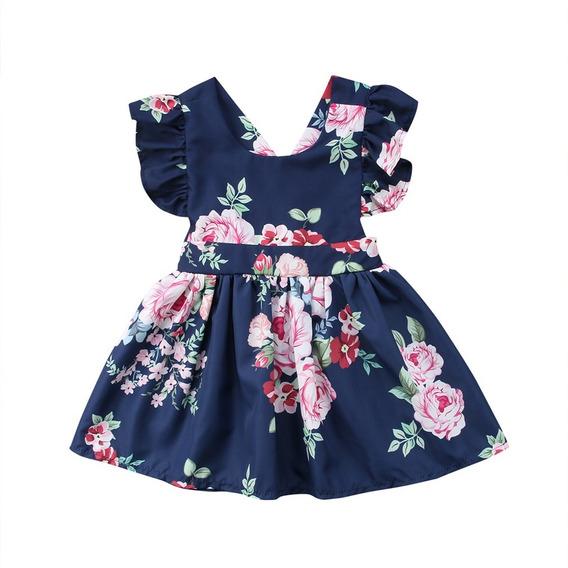 Vestido De Bebê Menina Florido Infantil